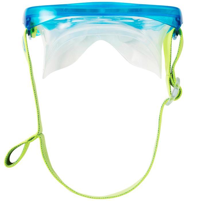 Set duikbril en snorkel SNK 520 voor kinderen groen/blauw