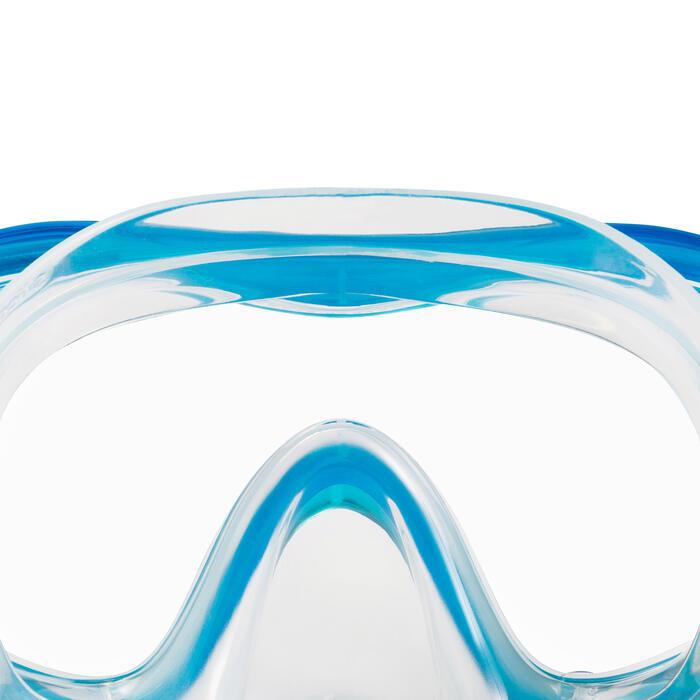 966e62ac590088 Snorkelset duikbril en snorkel FRD 120 groen/blauw voor kinderen
