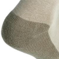 2 pares de calcetines cortos de campismo adulto Arpenaz 50 gris