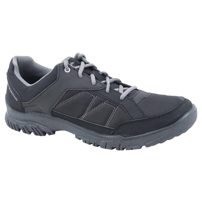 PÁNSKÉ BOTY NA NENÁROČNOU TURISTIKU Turistika - Boty NH 100 černé QUECHUA - Turistická obuv