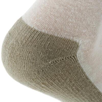 Chaussettes randonnée nature beige - NH100 High - X 2 paires