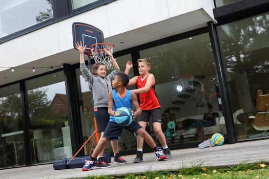 Panier de basket enfant B200 EASY bleu espace. 1,60m à 2,20m. Jusqu'à 10 ans. - 1215914