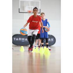 Beschermende beensleeve voor basketbal jong kind zwart