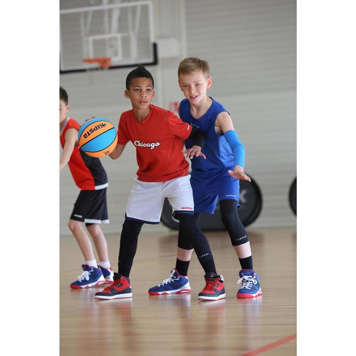 Mouwloos basketbalshirt T100 voor beginnende jongens en meisjes blauw