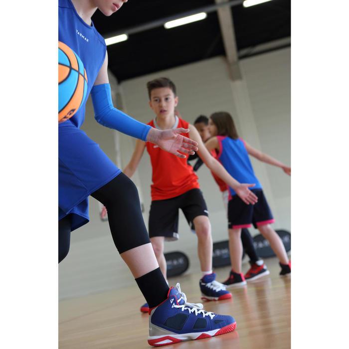 Driekwart tight voor basketbal zwart (kinderen)