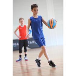 Basketbalshirt voor beginnende jongens/meisjes blauw T100
