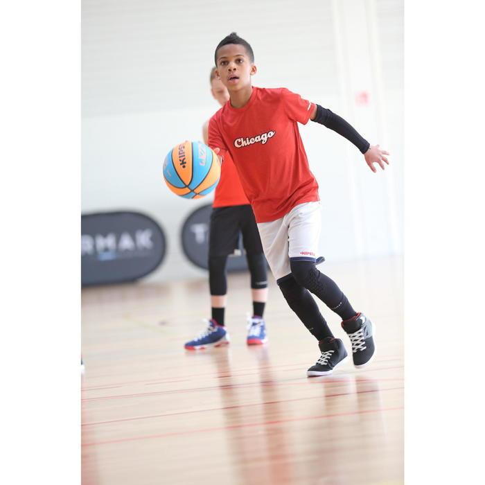 Ballon de basket enfant Wizzy Playground bleu orange taille 5.