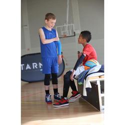 Driekwart tight baselayer basketbal voor halfgevorderde kinderen zwart