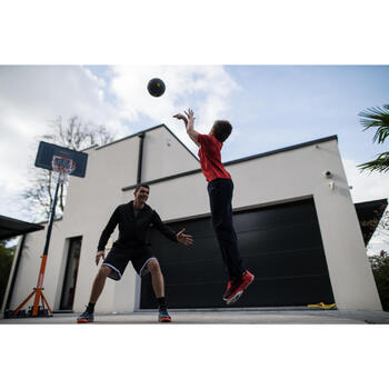 Panier de basket enfant/adulte B400 EASY noir rouge. 2,40m à 3,05m sans outils. - 1216217