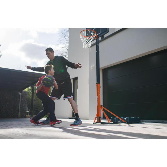 Panier de basket enfant/adulte B400 EASY noir rouge. 2,40m à 3,05m sans outils. - 1216220