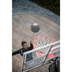 Basketbalhoodie donkergrijs/zwart met rits (heren)