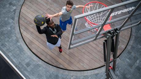 Cadeau de noel basketball panier