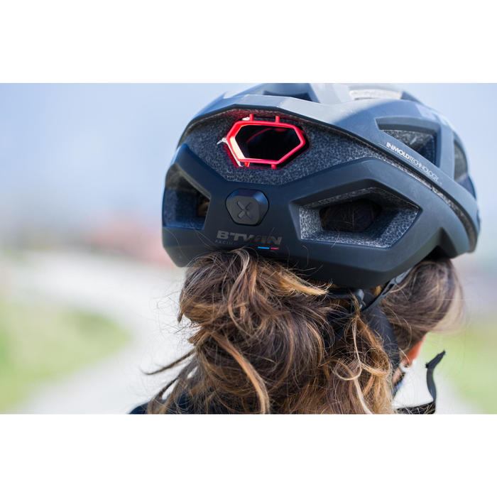 Fahrradhelm Rennrad Aerofit 900 schwarz