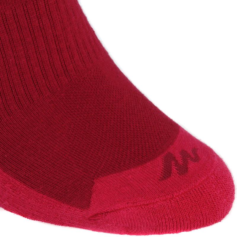 2 pares de calcetines de excursión naturaleza caña alta adulto Arpenaz 50 Rosado
