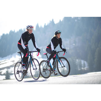 Lange fietsbroek 900 met bretels voor dames - 1216396