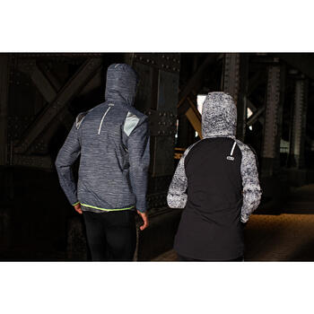 Run Warm Women's Running Jacket Hood - Black  - 1216554