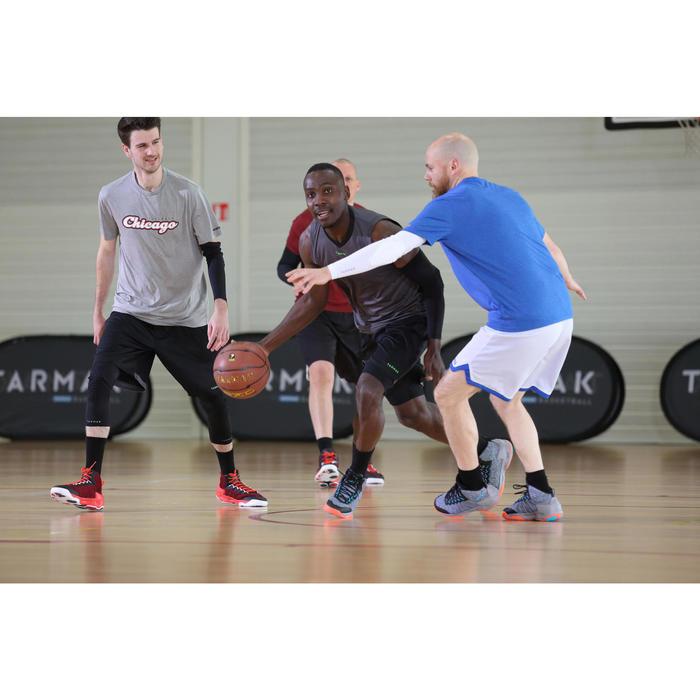 Basketbalshort voor heren beginner SH100 zwart