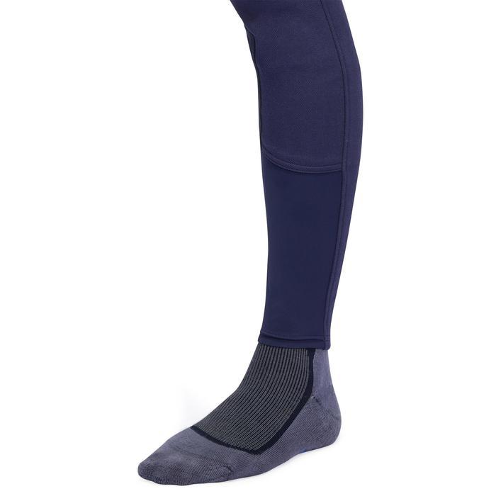 Pantalon chaud équitation femme VICTORIA fond de peau bleu marine - 1216591