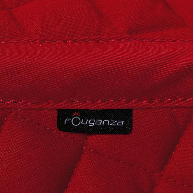 ผ้ารองอานม้าสำหรับม้าโตและลูกม้ารุ่น Schooling (สีแดง)