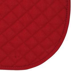 Mantilla de silla equitación caballo y poni SCHOOLING roja