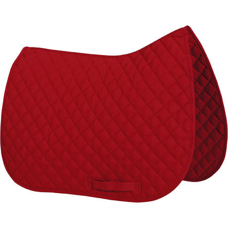 Schooling Horseback Riding Saddle Pad for Horse and Pony - Red