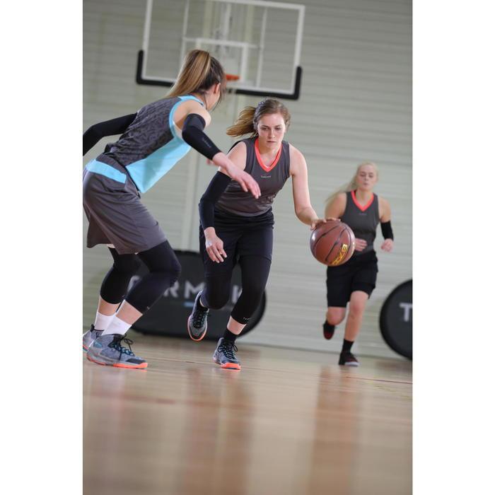 Driekwart tight voor basketbal zwart (dames)