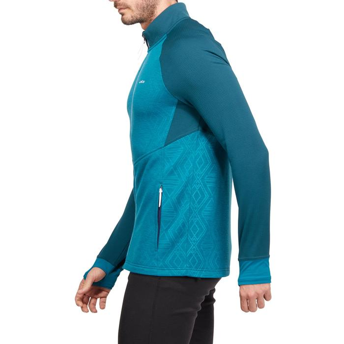 Ski-Sweatshirt Mid Warm 500 Herren petrol