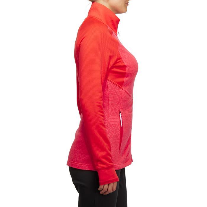 Sudadera Esquí Wedze Mid Warm 500 Mujer Rojo Coral