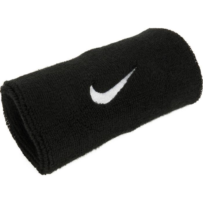 Brede polsband voor tennis zwart Nike
