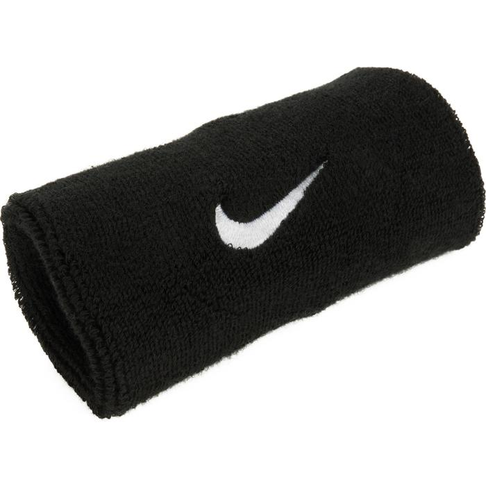 LOT DE DEUX POIGNETS DE TENNIS LONG NOIR NIKE