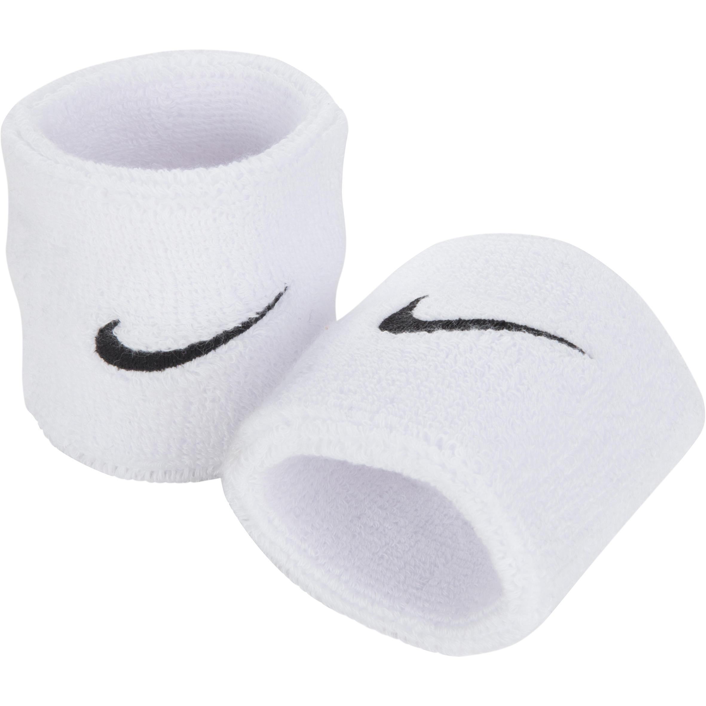 Nike Set van twee polsbandjes voor tennis/badminton/squash/padel/tafeltennis wit