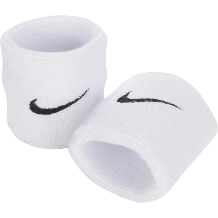 Set van twee polsbandjes voor tennis/badminton/squash/padel/tafeltennis wit