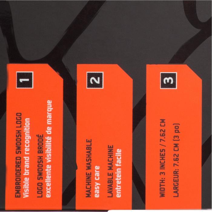 Set van 2 polsbandjes zwart tennis/padel/tafeltennis/badminton/squash