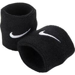 Schweißbandset Tennis Handgelenk 2er-Pack schwarz