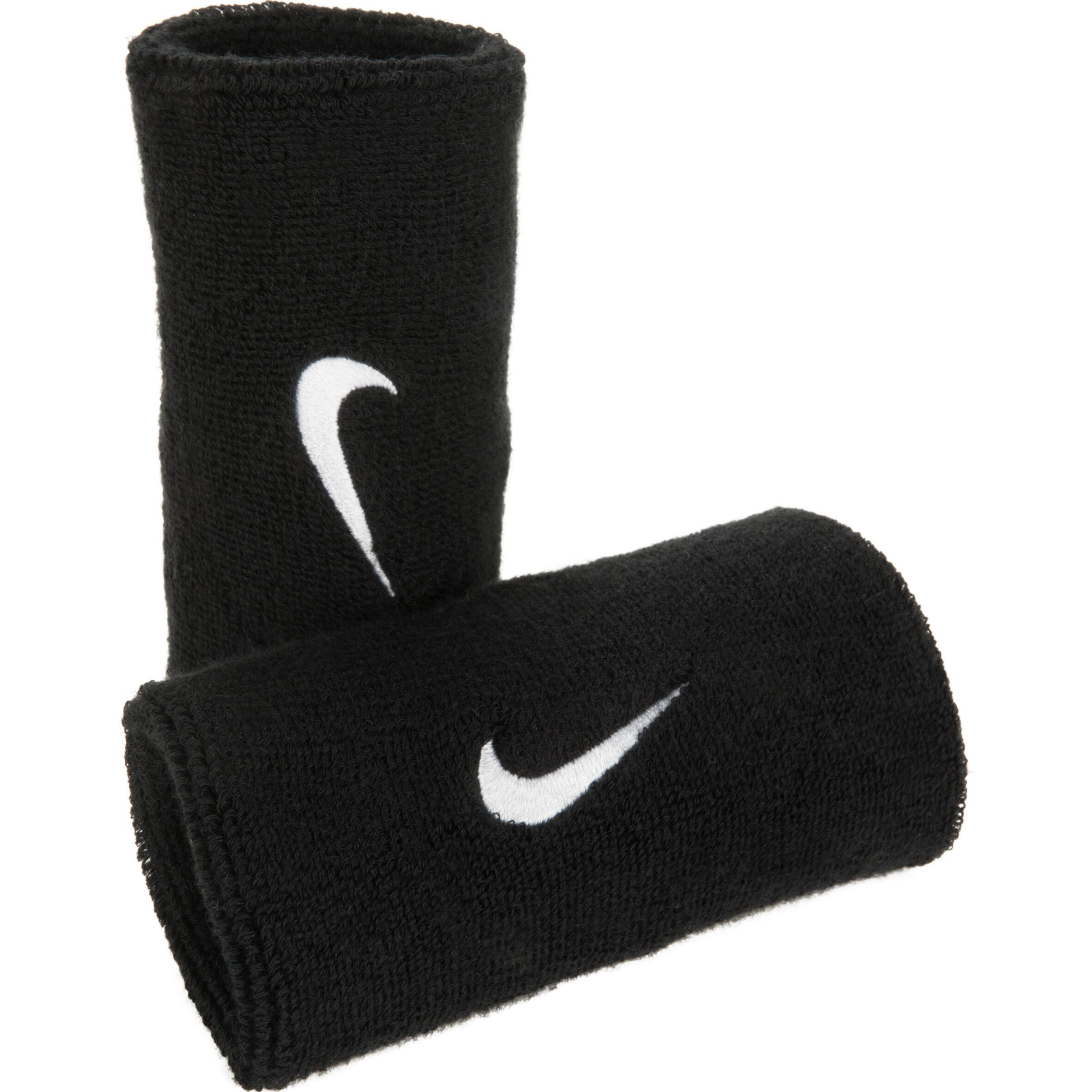 Nike Brede polsband voor tennis zwart Nike