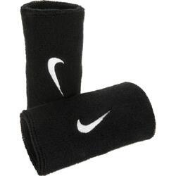 Schweißbandset Tennis Handgelenk 2er-Pack schwarz Nike