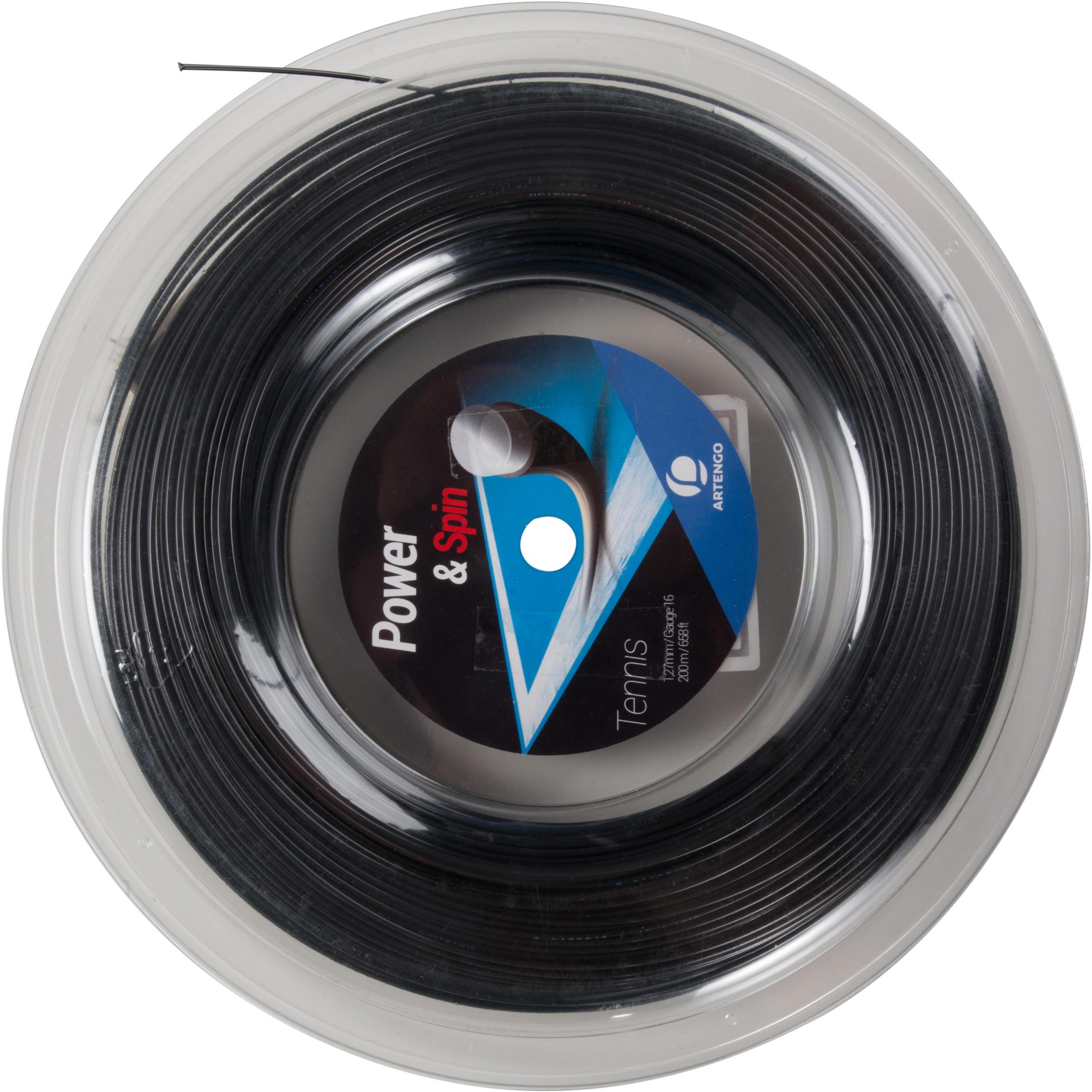 TA990 Spin 1.27 mm Monofilament Tennis String 200 m - Black