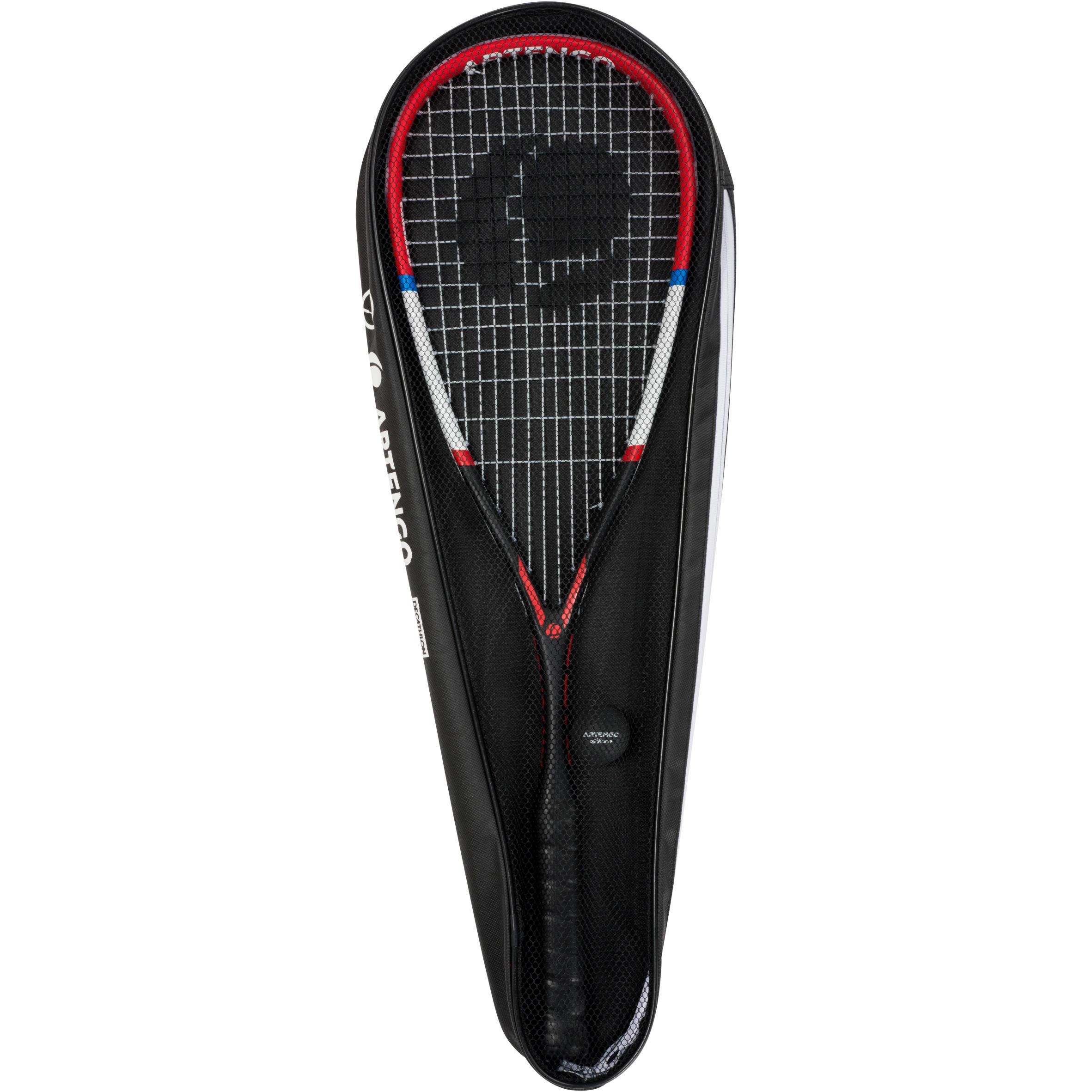 Artengo Squashset racket SR160 + tas + bal SB 830