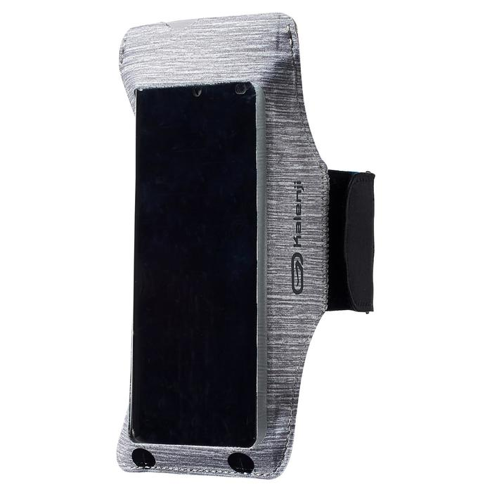 Laufarmband für Smartphones grau