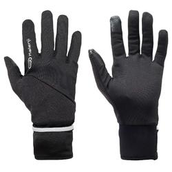 Tactiele handschoenen Evolutiv voor hardlopen zwart met geïntegreerde want