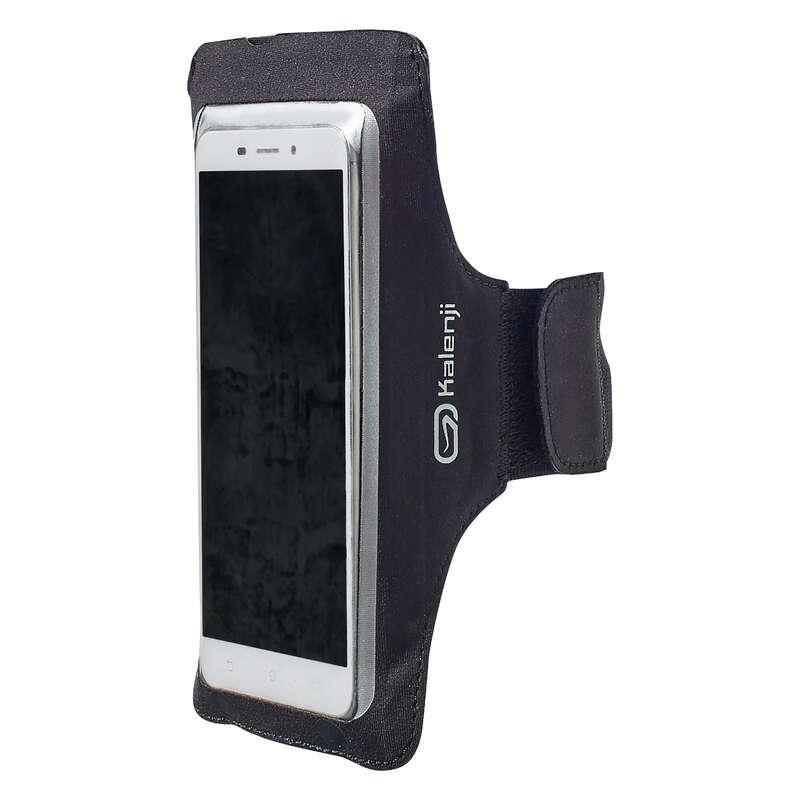 JOGGING ACCESSORIES TO CARRY Running - BIG SMARTPHONE ARMBAND - BLACK KALENJI - Running Clothing