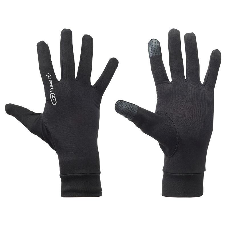 Găng tay chạy bộ có cảm ứng - Đen