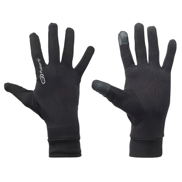 保暖跑步手套-黑色