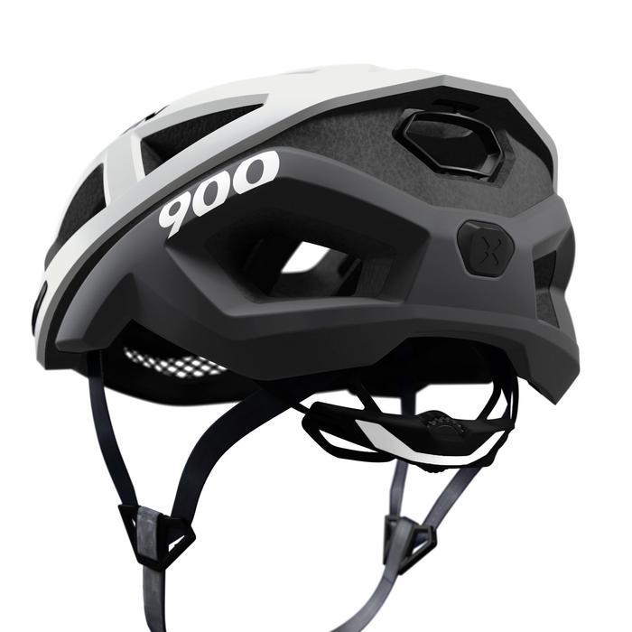 Fahrradhelm Rennrad Aerofit 900 weiß/schwarz