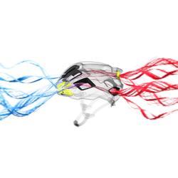 Fietshelm Racer zwart/fluogeel