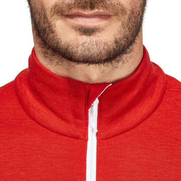 Skipullover Mid Warm 300 Herren rot/weiß