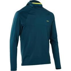 Camiseta térmica interior nieve y esquí Wedze Freshwarm Neck hombre azul capucha
