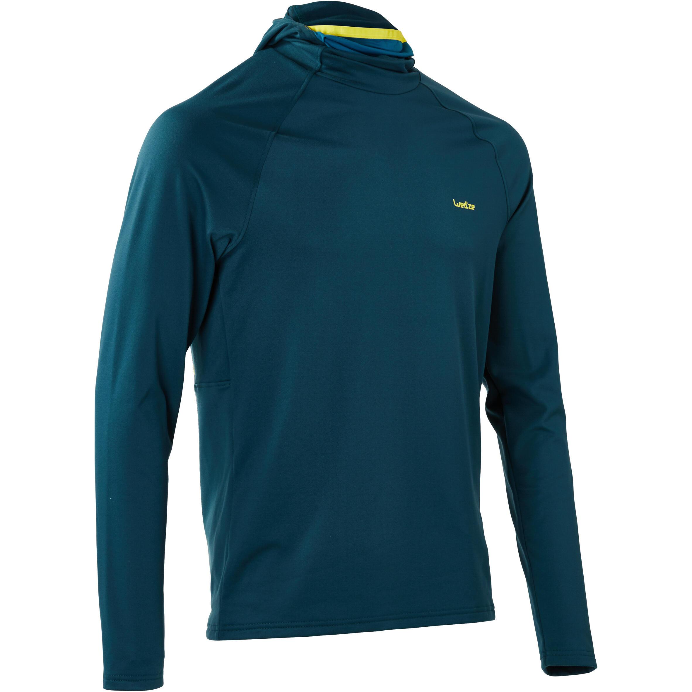 Skiunterwäsche Funktionsshirt Freshwarm Neck Herren blau | Sportbekleidung > Funktionswäsche > Thermounterwäsche | Blau - Türkis - Gelb | Wed´ze