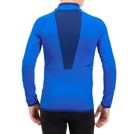 Kids' Ski Base Layer Top Freshwarm Half-Zipper - Blue