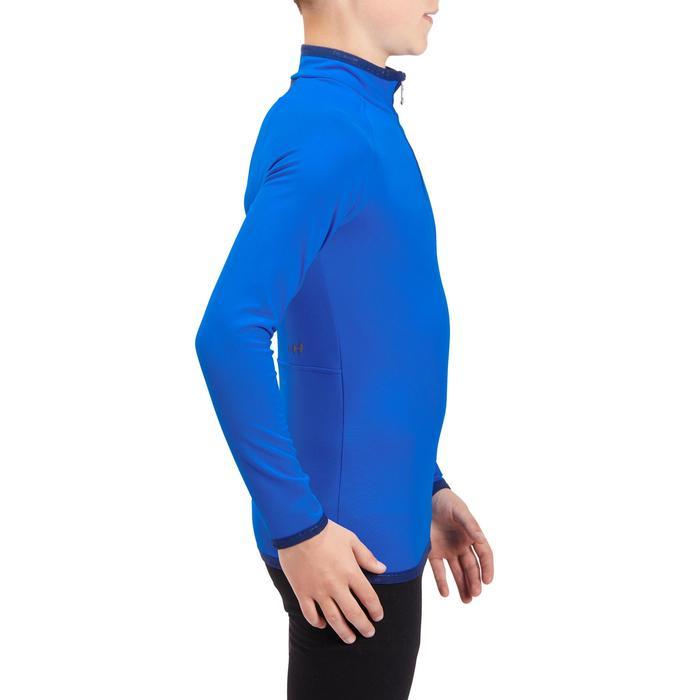 Skiunterwäsche Funktionsshirt Freshwarm 1/2-Reißverschluss Kinder blau